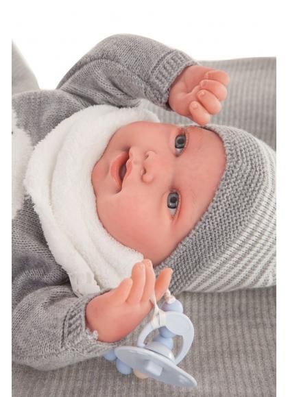 Sweet Reborn Pipo Toquilla Gris 40 cm