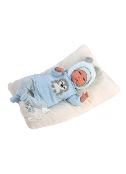 Reborn Sin Pelo Azul 42 Cm