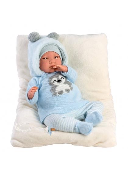Reborn Sin Pelo Azul 42 Cm Muñecas Bebes Reborn Llorens Bebes Reborn Llorens 18012