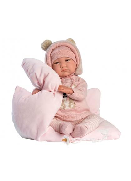 Reborn Hairless Pink 42 Cm