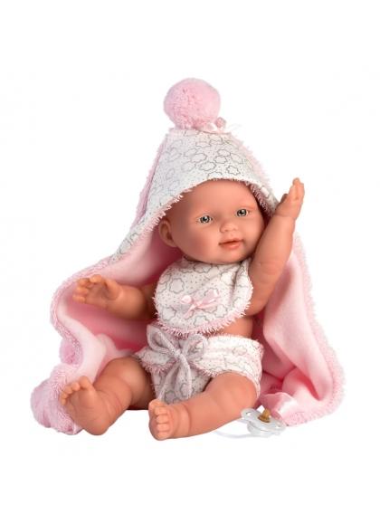 Bébé Fille Avec Cape 26 Cm Poupées Llorens Nouveau-Né Très Douces 26308