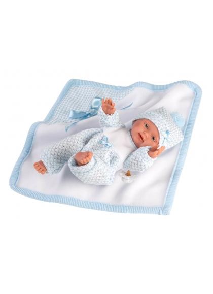 Bebè Con Coperta 26 Cm Bambole Llorens Neonato Morbidissime 26309