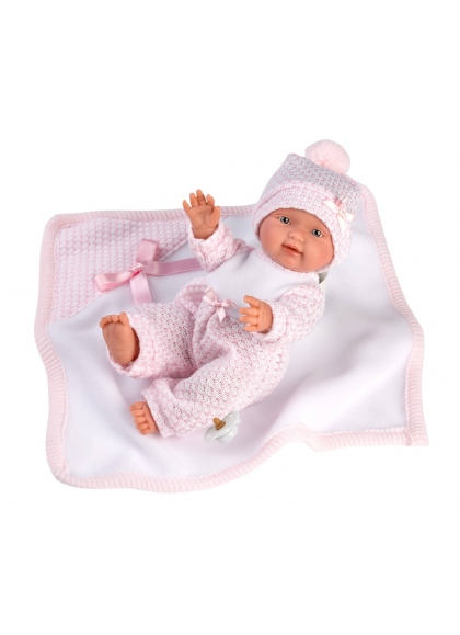 Bebita Con Mantita 26 Cm Muñecas Llorens Recién Nacidos muy suaves 26310