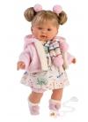 Alexandra Llorona Printed Dress and 42 Cm Jacket Llorens Dolls Los llorones 42270