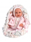 Baby With Pink Carrier 36 Cm Llorens Newborn Dolls that cry 63640