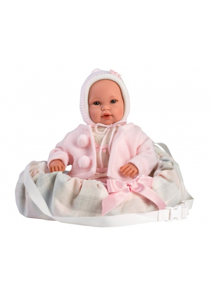 Baby With Pink Carrier 36 Cm