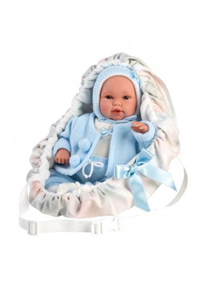Baby Con Portabebe Azul 36 Cm