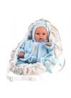 Bebè Con Marsupio Blu 36 Cm
