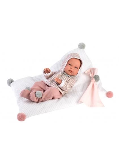 Nica Newborn Coussin Carré 40 Cm Très Doux Llorens Newborn Dolls 73878