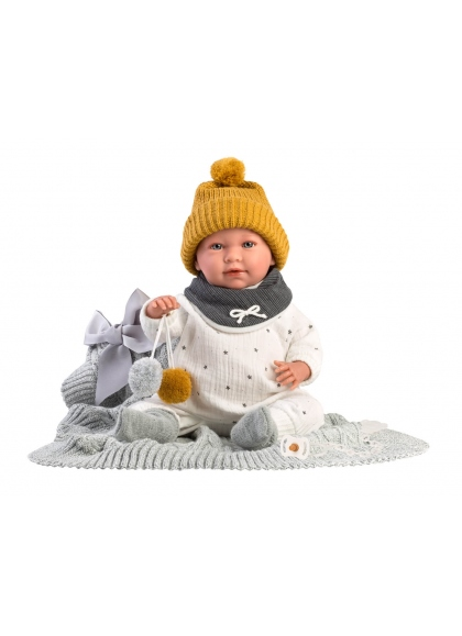 Mimo Lloron With Blanket 42 Cm Newborn Llorens Dolls that cry 74001
