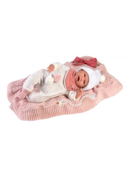 Mimi Smile With Blanket 42 Cm Crying Newborn Llorens Dolls 74002