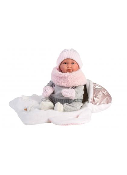 Mimi Llorona Baby Carrier 42 Cm Newborn Llorens Dolls that cry 74004
