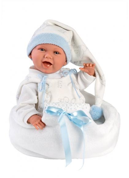 Nacelle Cigogne Bleue Mimo Smiles 42 Cm