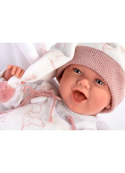 Nacelle Cigogne Rose Mimi Smiles 42 Cm
