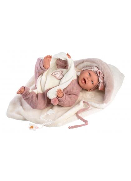 Mimi Smiles Shawl 42 Cm Newborn Llorens Dolls that cry 74008
