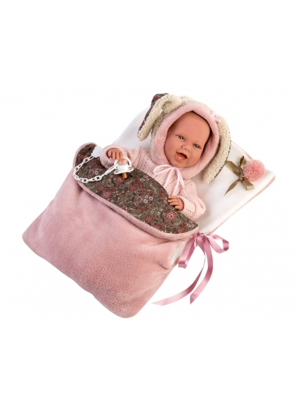 Mimi Smiles Bag Carriage 42 Cm Llorens Newborn Dolls that cry 74010