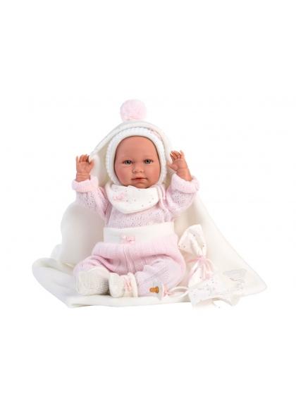 Mimi Llorona White Cape 42 Cm Newborn Llorens Dolls that cry 74092