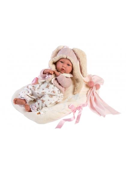 Crying Mimi With Cushion 42 Cm Newborn Llorens Dolls that cry 74094