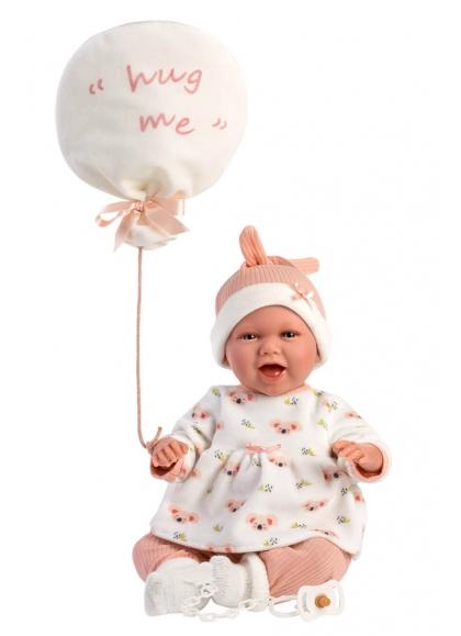 Mimi Smiles Balloon Hug Me 42 Cm Crying Newborn Llorens Dolls 74096