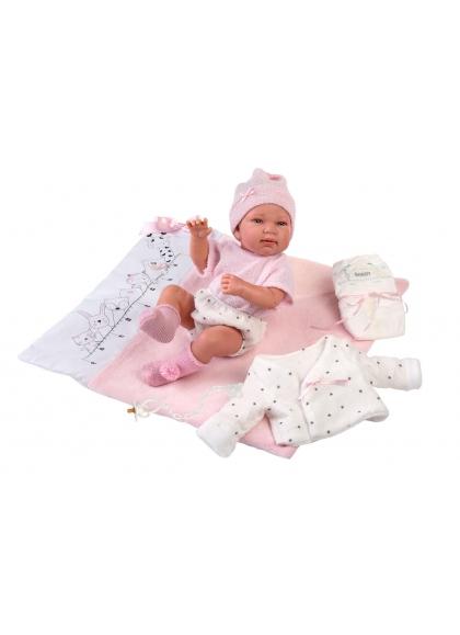 Mesure de la table à langer 43 cm Llorens Newborn Dolls Very Soft 84328