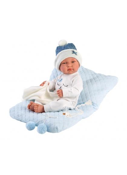 Tino With Cushion 43 Cm Very Soft Newborn Llorens Dolls 84329