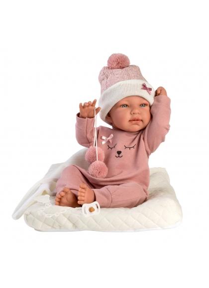 Bathtub With Cushion 43 Cm Very Soft Newborn Llorens Dolls 84330