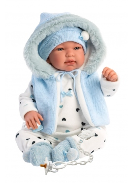 Tino Blue Romper With Hood 44 Cm