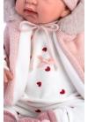 Tina Barboteuse Rose Avec Capuche 44 Cm