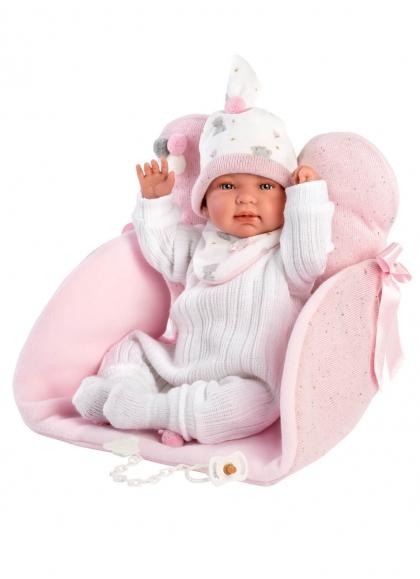 Baignoire avec siège à langer 44 Cm Crying Newborn Llorens Dolls 84442