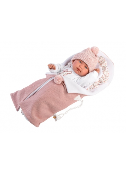 Tina Cushion And Changing Table 44 Cm Crying Newborn Llorens Dolls 84444