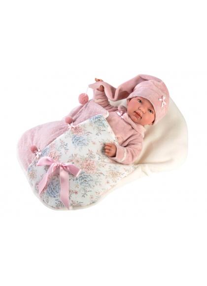 Tina With Bag 44 Cm Llorens Newborn Dolls that cry 84450