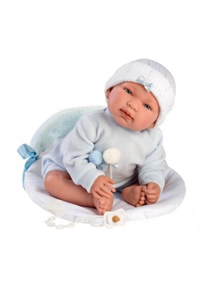 Tino With Caterpillar Bag 44 Cm Crying Newborn Llorens Dolls 84451