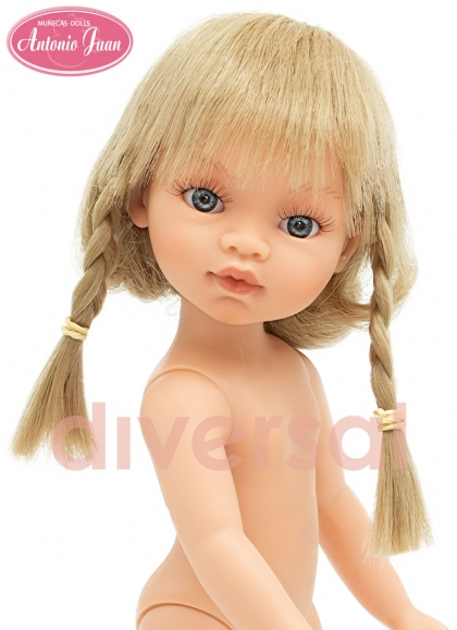 Dolls without clothes Antonio Juan Emilys Special Editions 33 cm Emily Blonde With Braids 33 cm Special Edition