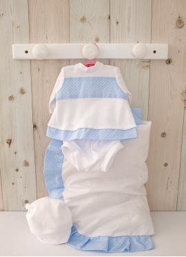 Ropa para muñecas de 42 cm - Conjunto Blanco y Azul