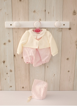 Pink Dress with Jacket - Clothes for 42 cm dolls