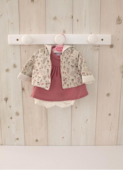 Красное платье со свитшотом - Одежда для кукол 42 см. - Diversal.es - Tienda de muñecas, juguetes y disfraces