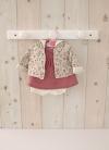 Наряд для кукол 42 см - Платье Сердечки с красным жакетом