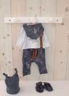 Reborn Pajamas Black and White 40-42 cm