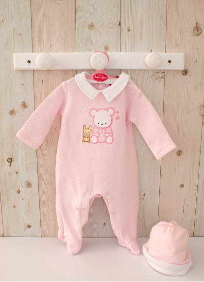 Pink Bear Pajamas 40-42 cm
