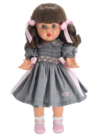 Mariquita Perez Conjunto Vestido Gris/Rosa