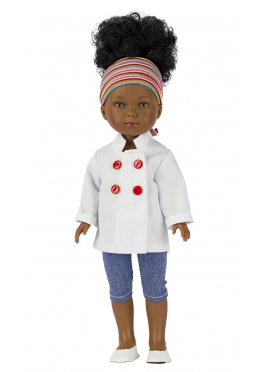 Brandy With Chef Jacket and Jeans 28 cm