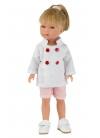 Carlota With Chef Jacket And Jeans Short Pink 28 cm