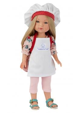 Carlota Cocinera Con Delantal Y Gorro 28 cm