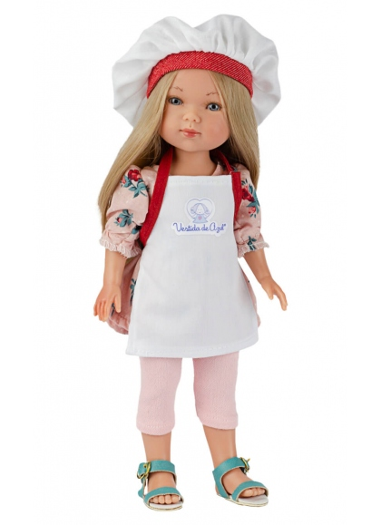 Carlota Cook With Apron And Hat 28 cm