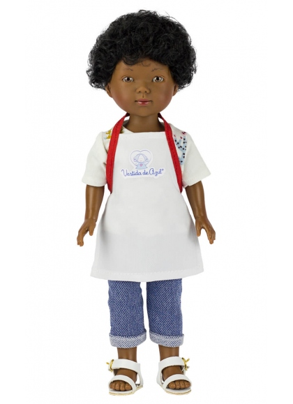 Omar Cook With Apron And Hat 28 cm