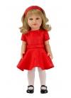 Coral Con Vestido Y Diadema Rojos 45 cm