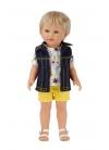 David Con Jeans Corto Amarillo y Camiseta 45 cm