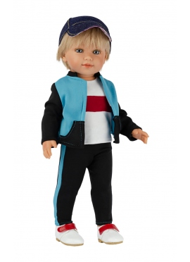 David mit schwarz-blauem Trainingsanzug 45 cm