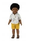 Karim Con Jeans Corto Amarillo y Camisa Estampada 45 cm