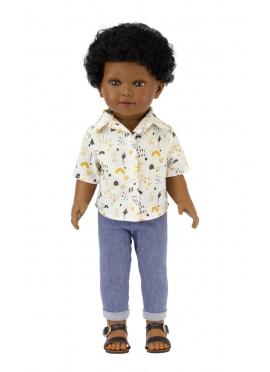 Karim Con Jeans y Camisa Estampada 45 cm